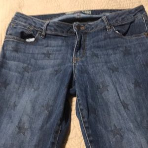 Jeans with blue stars regular size